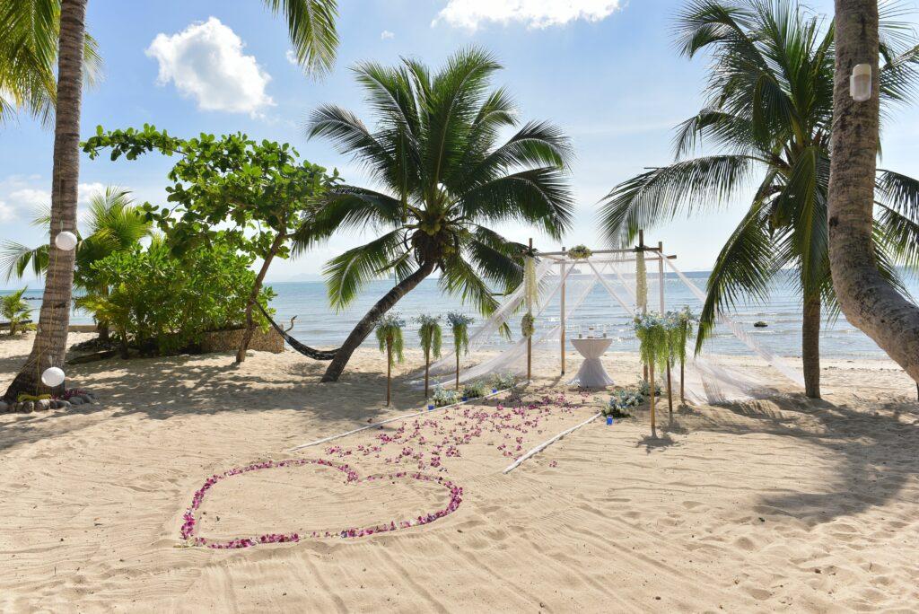 Strandhochzeit auf Koh Samui